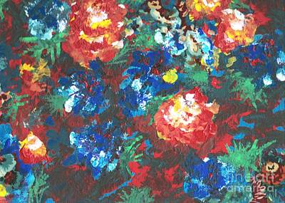 Art Print featuring the painting My Sister's Garden II by Alys Caviness-Gober