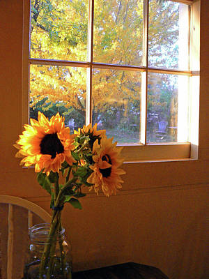 My Sisters Kitchen Window Art Print by Pamela Patch