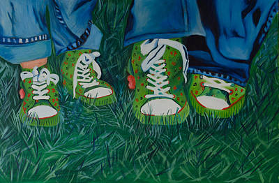 My Sister's Shoes Art Print by Sherrie Phillips
