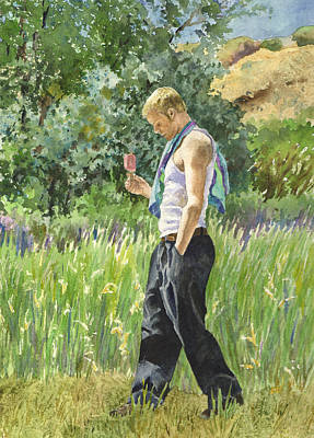 Painting - My Son Lex In Full Bloom by Anne Gifford