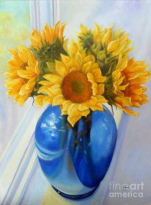 Painting - My Sunflowers by Marlene Book