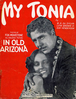 Old Sheet Music Photograph - My Tonia by Mel Thompson