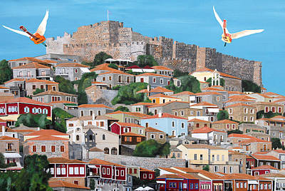 Lesvos Digital Art - My Town  by Eric Kempson