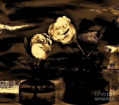My Vintage Rose Picture Art Print by Marsha Heiken