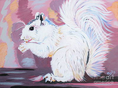 Painting - My White Squirrel by Phyllis Kaltenbach