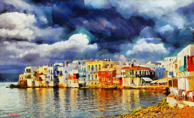 Hellas Painting - Myconos Clasic by George Rossidis
