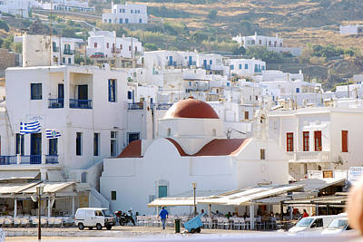 Photograph - Mykonos Church by Harvey Barrison