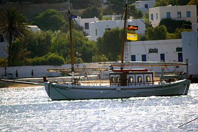 Photograph - Mykonos Harbor by Harvey Barrison