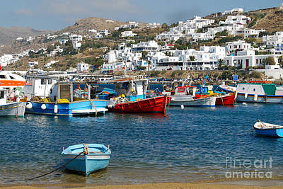 Photograph - Mykonos Harbor In Greece  by Eva Kaufman