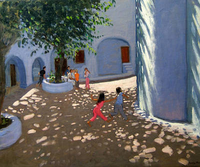 Cyclades Painting - Mykonos Monastery by Andrew Macara
