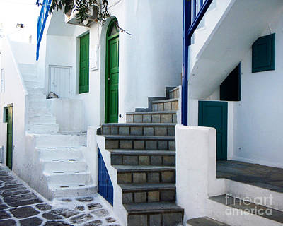 Esher Photograph - Mykonos Stairs by Rebecca Margraf
