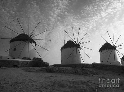 Photograph - Mykonos Windmills by Leslie Leda