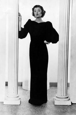 Evening Gown Photograph - Myrna Loy, Ca. 1935 by Everett