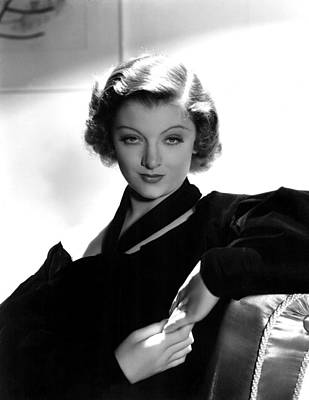 Thin Eyebrows Photograph - Myrna Loy, Mgm, 7236 by Everett