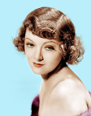 1930s Hairstyles Photograph - Myrna Loy, Mgm Portrait, 1930s by Everett