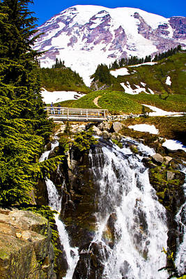 Photograph - Myrtle Falls At Mt. Rainier by David Patterson