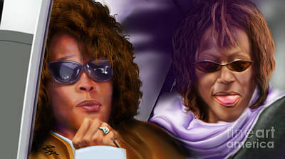 Rhythm And Blues Painting - Myself And I - Whitney by Reggie Duffie