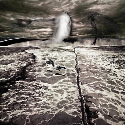 Surreal Photograph - Mysterious Pond Goddess by Andy Frasheski