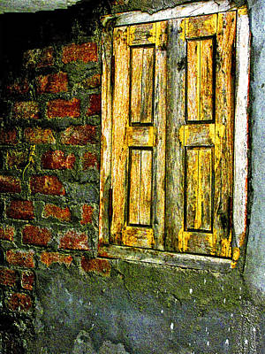 Photograph - Mysterious Window by Makarand Purohit