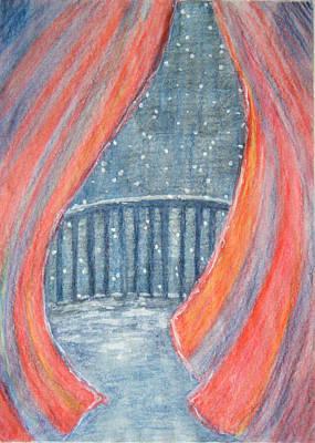Snow Flake Drawing - Mystery Of The Night by Tatiana Baze