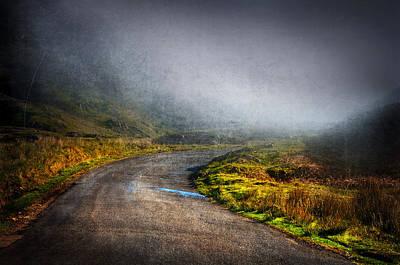 Foggy Road Photograph - Mystery Road  by Svetlana Sewell