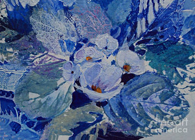 Painting - Mystery White Flowers by Diane Ursin