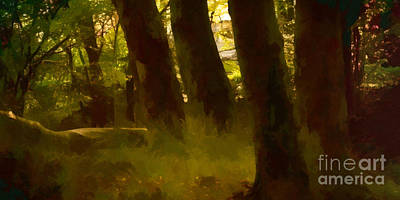 Painting - Mystery Woods by Lutz Baar