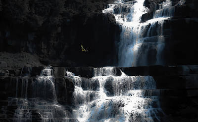 Blue Swallowtail Photograph - Mystic Falls by DigiArt Diaries by Vicky B Fuller