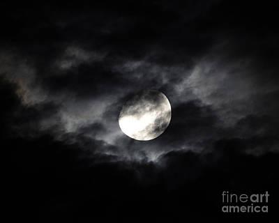 Gibbous Moon Photograph - Mystic Moon by Al Powell Photography USA