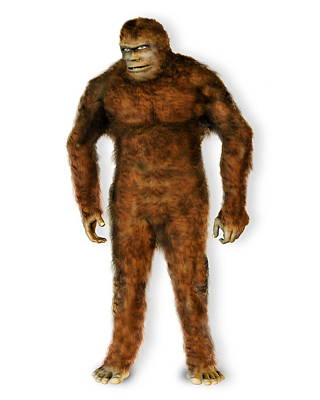 Abominable Snowman Photograph - Mythical Large Ape by Victor Habbick Visions