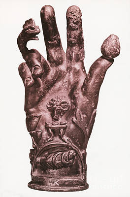Mythological Hand Art Print by Photo Researchers