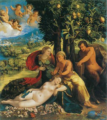 Mythological Scene Art Print by Dosso Dossi