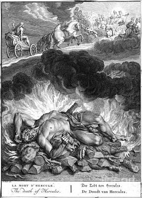 Cremation Photograph - Mythology: Hercules by Granger