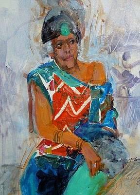 Painting - Myvynee Yemaya's Own by Rhonda Bristol