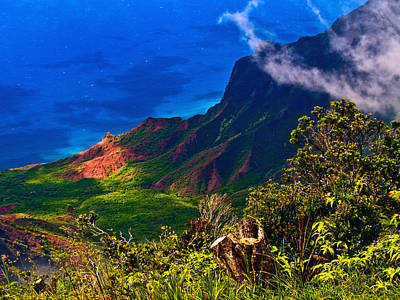Photograph - Na Pali Coast Hawaii 08 by Gordon Engebretson