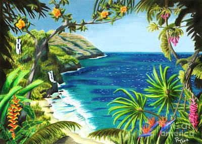 Na Pali Art Print by Robert Thornton