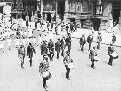 Naacp Parade, Nyc, 1917 Art Print by Granger