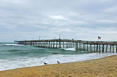 Photograph - Nags Head Fishing Pier by Eve Spring