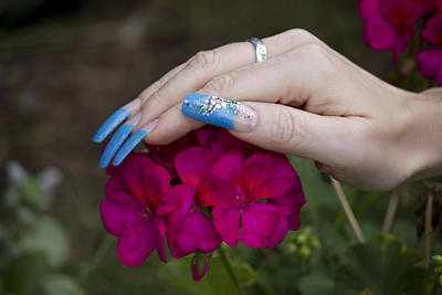 Photograph - Nails And Geranium by Donna Munro