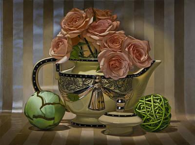 Teapot Painting - Naimark Teapot by Tony Chimento