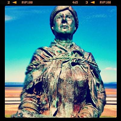 Bronze Wall Art - Photograph - #nairn #harbour #bronze #metal #statue by Toonster The Bold