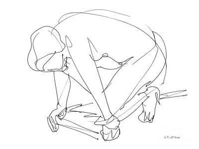 Drawing - Naked-women-art-24 by Gordon Punt