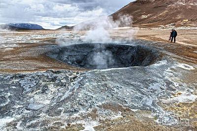 Photograph - Namaskard Iceland Mud Pot by Gregory Dyer