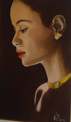 Volto Painting - Nancy by Marco Boschetti