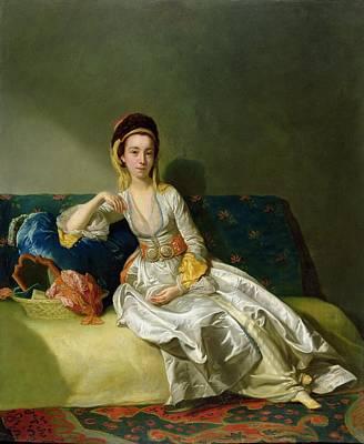 Nancy Parsons In Turkish Dress Print by George Willison