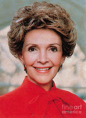 Nancy Reagan, 40th First Lady Art Print by Photo Researchers