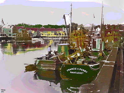 Art Print featuring the mixed media Nantucket by Charles Shoup