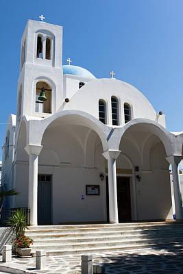 Photograph - Naoussa Village Church by Lorraine Devon Wilke