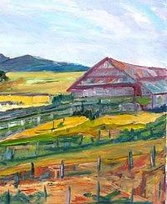 Painting - Napa Barn by Carolyn Zaroff