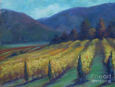 Napa Painting - Napa Valley View From The Castle by Deirdre Shibano